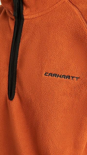 Carhartt WIP Hooded Beaumont Half Zip Sweatshirt