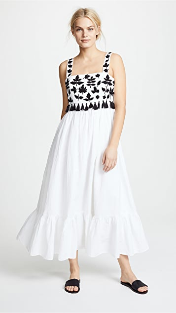 Carolina K Terry Embroidered Dress