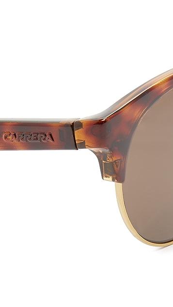Carrera Double Bar Round Sunglasses