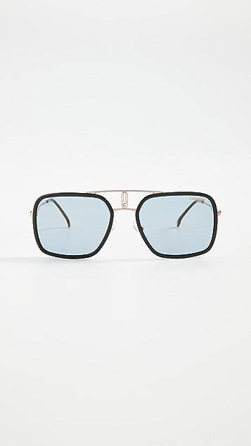 Carrera Солнцезащитные очки «авиаторы» в квадратной оправе из металла и ацетата
