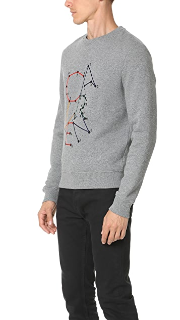 Carven Connect the Dots Logo Sweatshirt