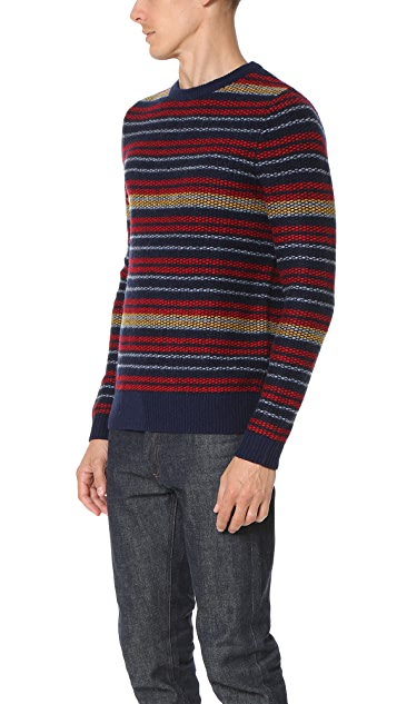 Carven Striped Crew Sweater