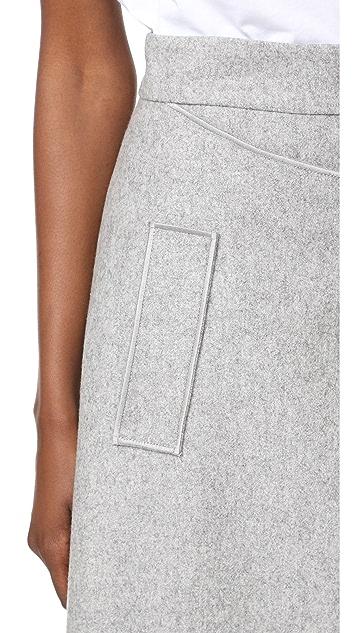 Carven Felt Skirt