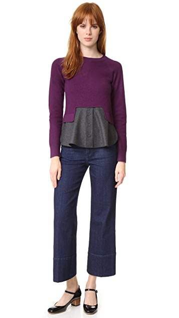Carven Knit Top with Trim