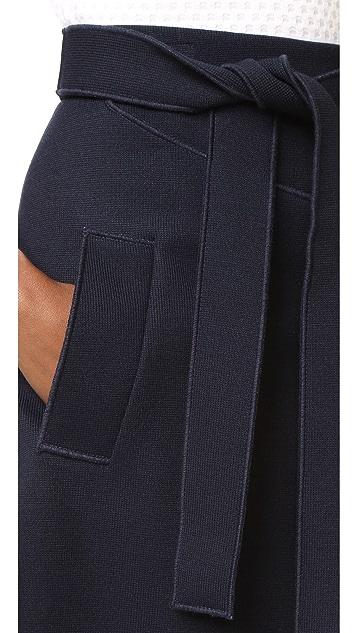 Carven Knit Belted Skirt