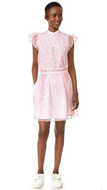 Carven Printed Organza Skirt