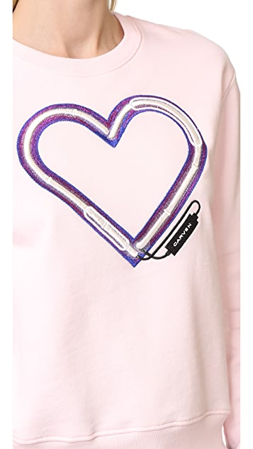 Carven Electric Heart Sweatshirt