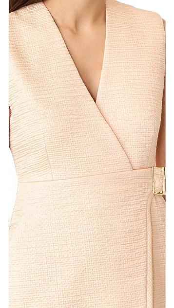 Carven V Neck Sleeveless Dress