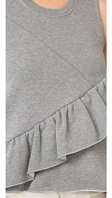 Carven Ruffled Sleeveless Top