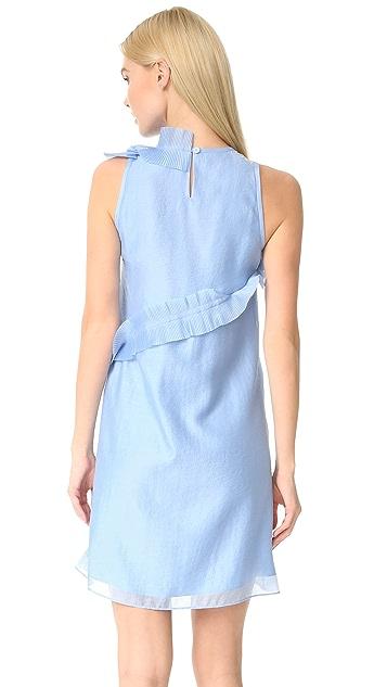 Carven Pleated Ruffle Dress