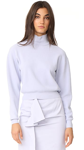 Carven Cropped Turtleneck Sweater