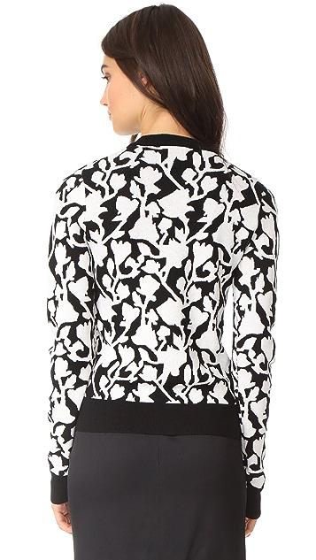 Carven Flower Jacquard Sweater