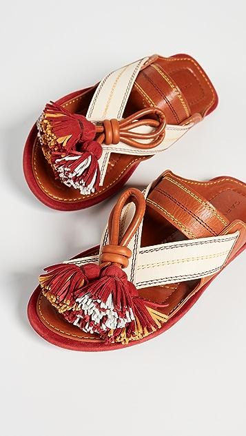 Carven Tassel Sandals