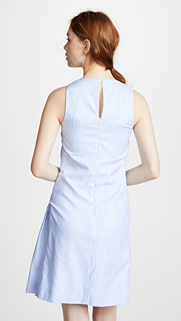 Carven Tie Waist Striped Dress
