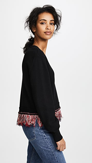 Carven Fringed Cardigan