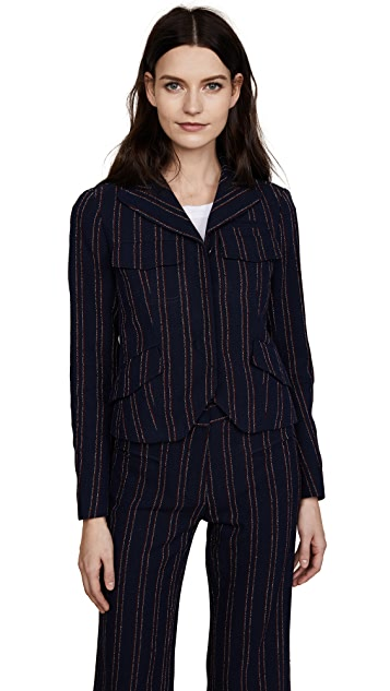 Carven Fitted Pinstripe Jacket