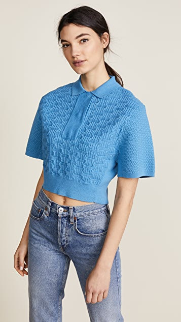 Carven Cropped Collared Shirt