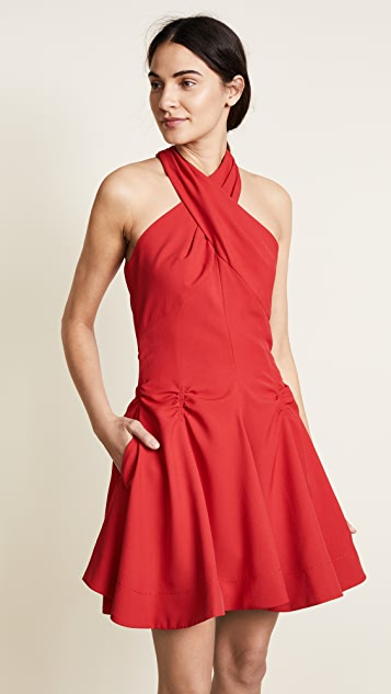 Carven Crossover Dress - Red