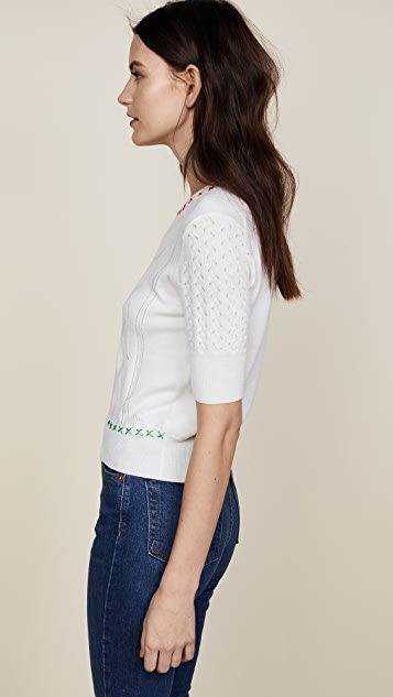 Carven 3/4 Sleeve Sweater