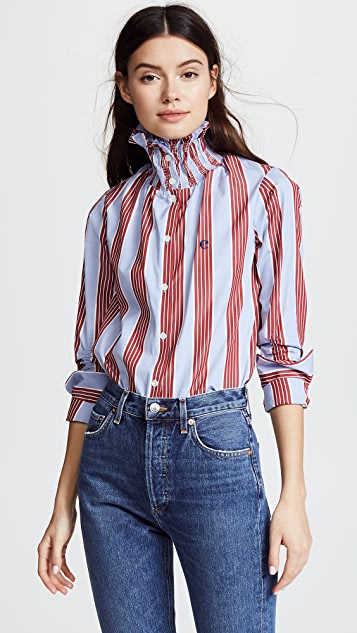 Carven Collared Blouse