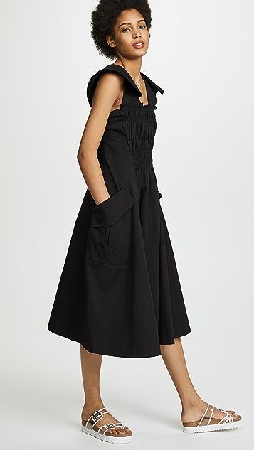 Carven Cap Sleeve Dress