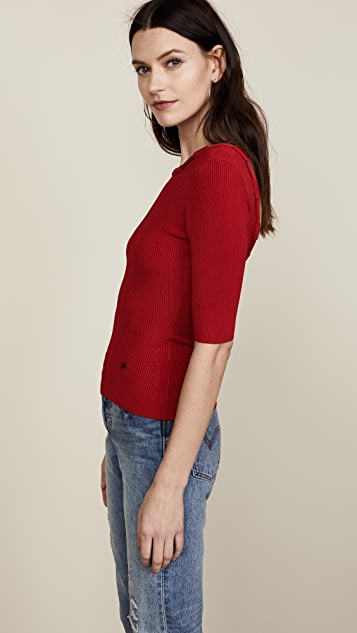 Carven Scoop Back Knit Top