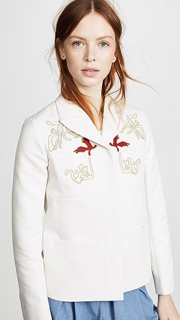 Carven Embroidered Jacket
