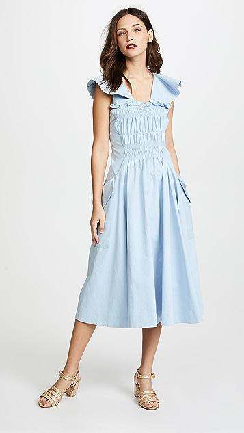 Carven Pleat Detail Dress