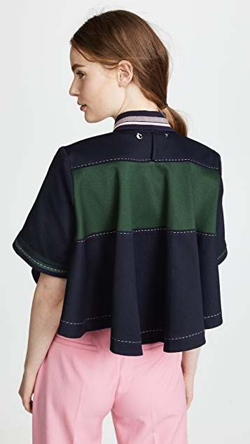 Carven Cropped Polo Top