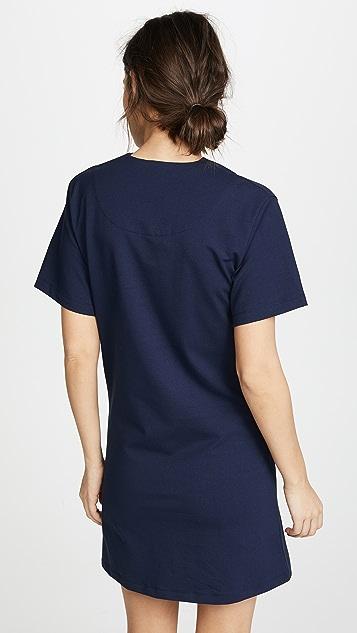 Carven Twist Neckline Detail Dress