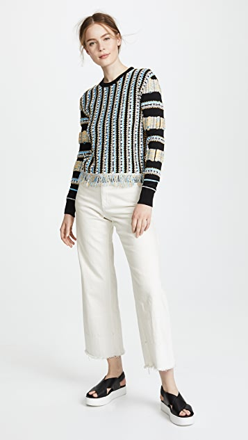 Carven Sweater with Fancy Italian Floating Yarns