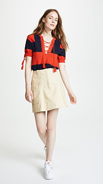 Carven Short Sleeve Rugby Sweater