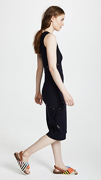 Carven Cord Knit Sleeveless Dress