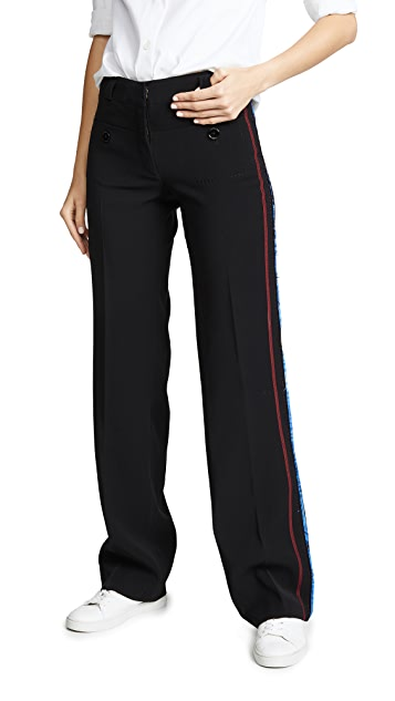 Carven Trousers with Side Stitching