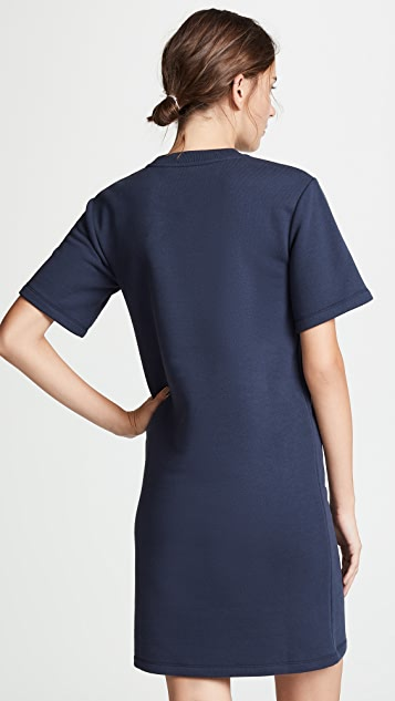 Carven Fleece Tee Dress