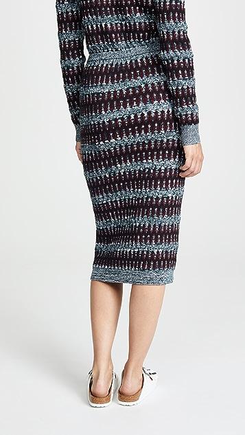 Carven Миди-юбка с рисунком