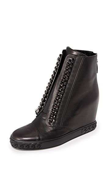 Casadei Chain Sneaker Wedges