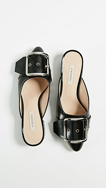 Casadei Alexa Chanel 20mm Mules