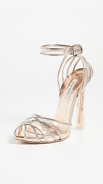 Casadei Plexi Blade Sandals