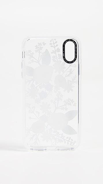Casetify Soft Floral Veronica Violet iPhone X / Xs Case