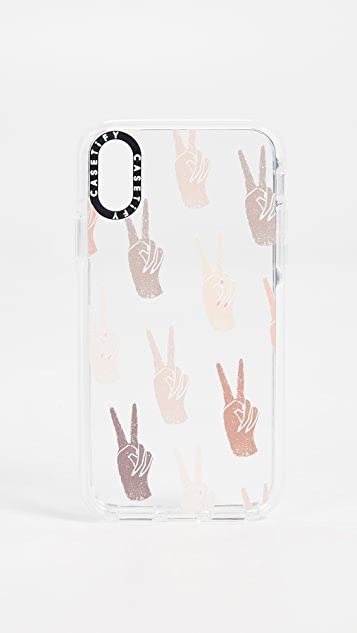 Casetify Peace iPhone X / Xs Case