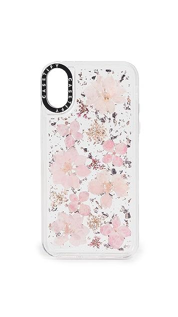 Casetify Pressed Flower Sakura iPhone X / XS Case