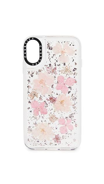 Casetify Pressed Flower Sakura iPhone Case