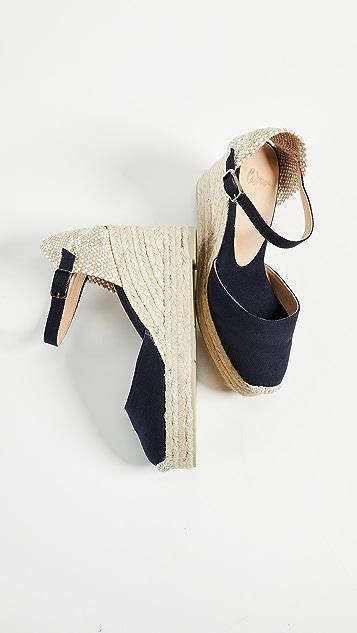 Castaner Carol Ankle Stap Wedges