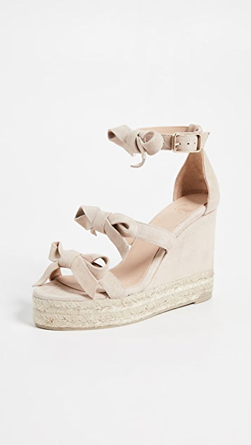 Castaner Guara Bow Wedge Sandals - Maquillaje