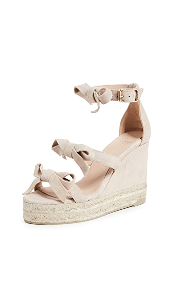 Castaner Guara Bow Wedge Sandals