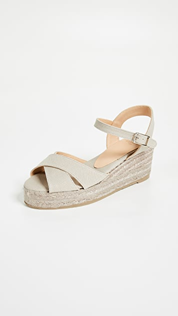 ce9e0a74516 Castaner Blaudell Crisscross Wedge Sandals