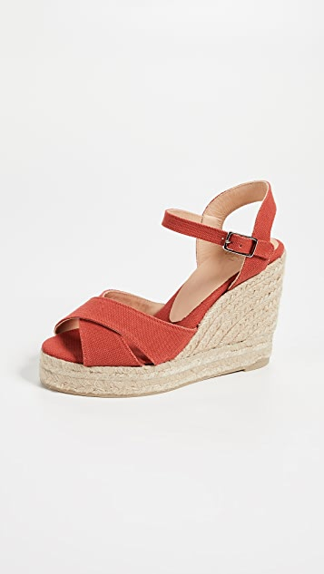 Castaner Blaudell Crisscross Wedge Sandals