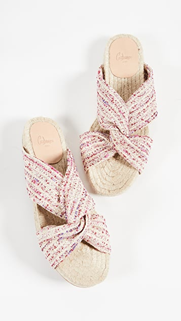 Castaner Patitia Knot Slide Sandals
