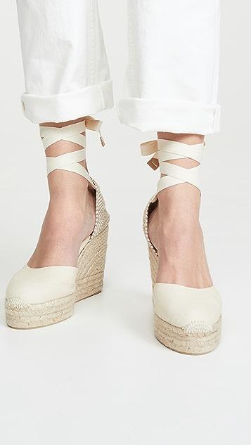 Castaner Carina 坡跟编织底便鞋